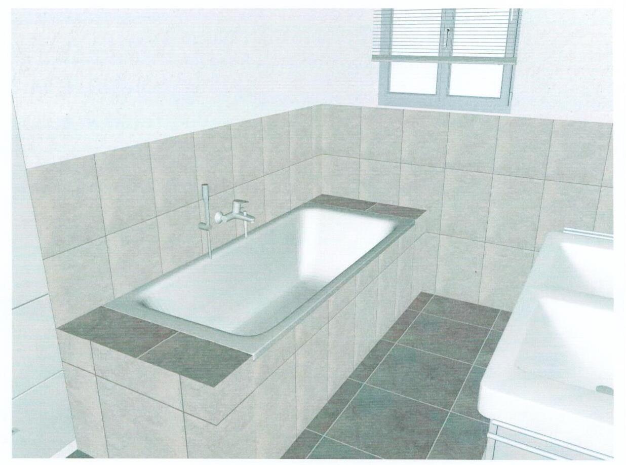 An Unserer Badewanne Haben Wir Tatsächlich Sogar Geld Gespart. Sie Ist  Etwas Günstiger Als Im Hausbauvertrag Dafür Veranschlagt.
